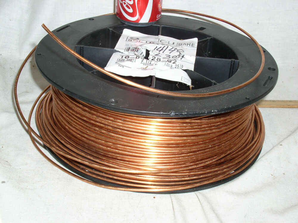 Solid Copper Wire : Ft feet foot new bulk ga awg solid bare