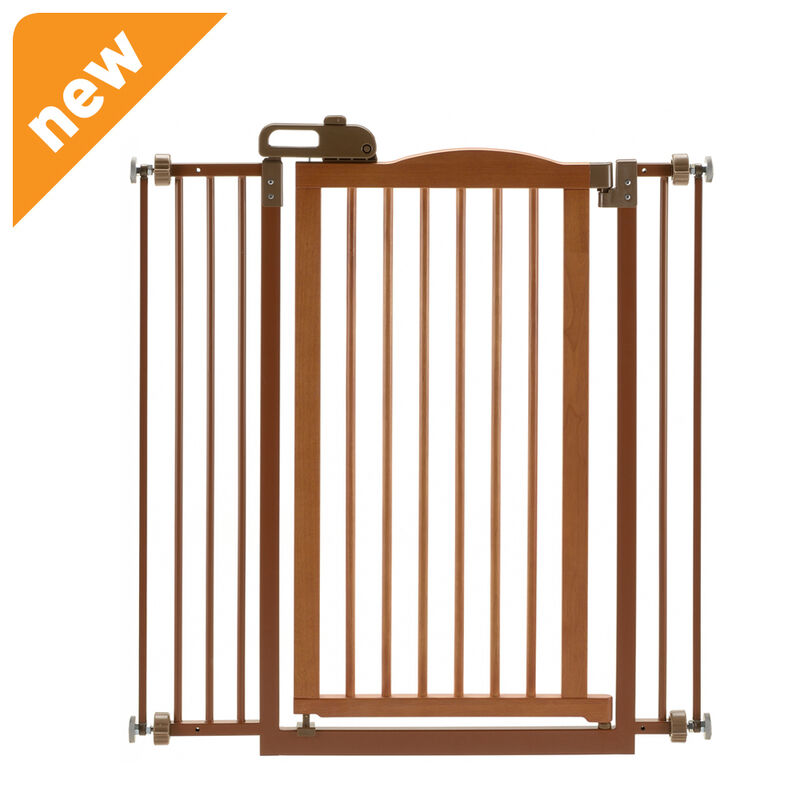 Richell Tall One Touch Gate Ii Brown 94930 Pet Gate New Ebay