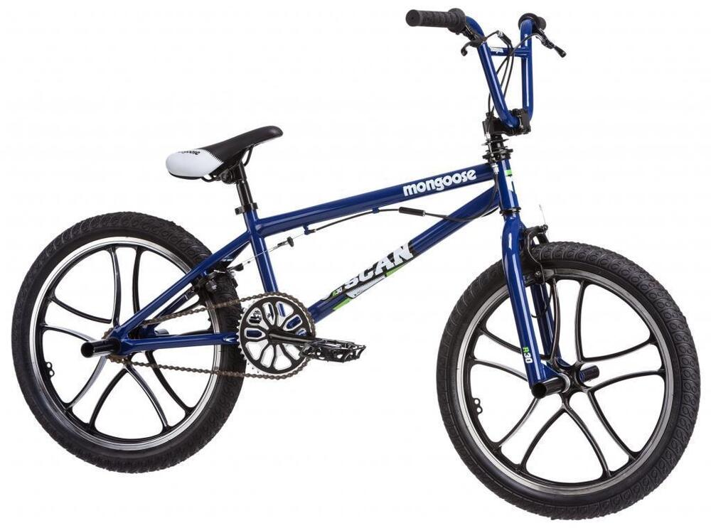 "mongoose scan blue 20"" bmx kids bike freestyle 