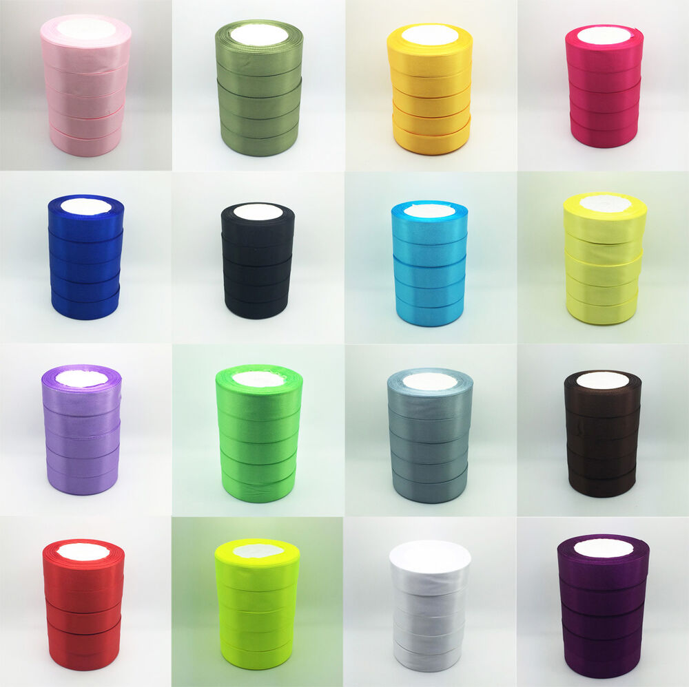 New wholesale 5 yards 1 25mm bulk satin ribbon diy craft for Craft supplies online cheap