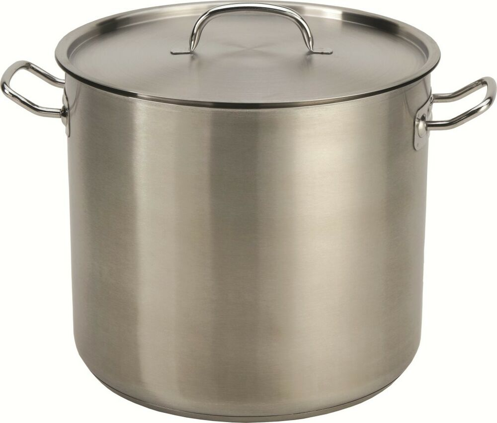 24 qt quart heavy duty stainless steel stock pot tri ply capsule base 513 ebay. Black Bedroom Furniture Sets. Home Design Ideas