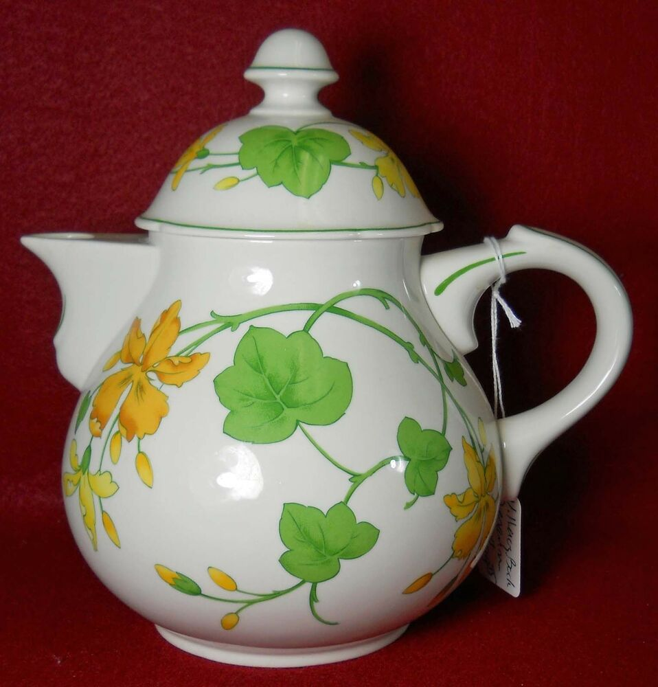 villeroy boch china geranium pattern teapot lid ebay. Black Bedroom Furniture Sets. Home Design Ideas