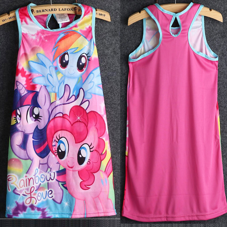 latest clothing princess dress kids girls my little pony