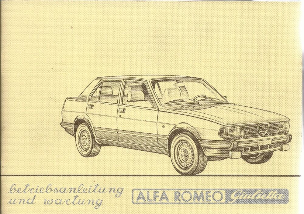 alfa romeo giulietta betriebsanleitung 1982 bedienungsanleitung handbuch ba ebay. Black Bedroom Furniture Sets. Home Design Ideas