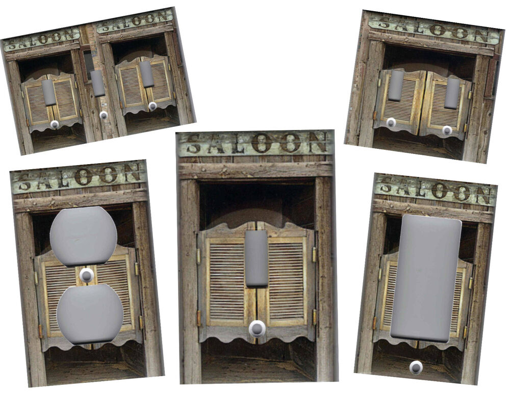 Western saloon doors home wall decor light switch plate ebay Ebay home interior pictures