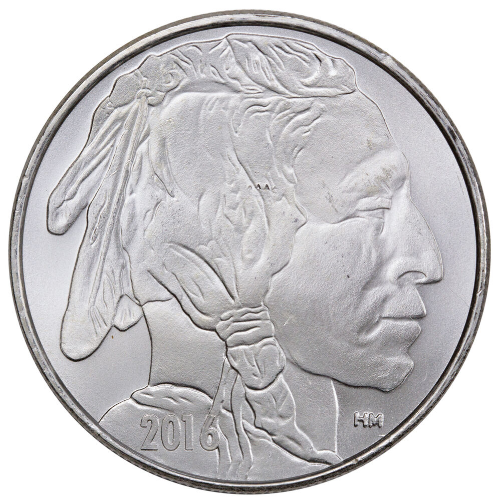 2016 Highland Mint 1 Troy Oz 999 Silver American Indian