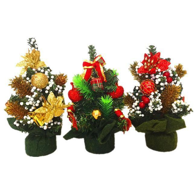Small Office Christmas Party Ideas: Home Decor Desk TABLE SMALL Mini Christmas Tree Office