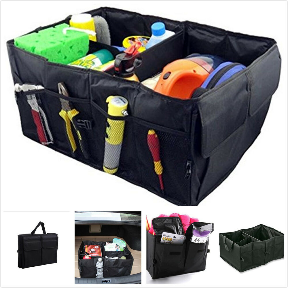multi purpose collapsible car foldable trunk boot tidy. Black Bedroom Furniture Sets. Home Design Ideas