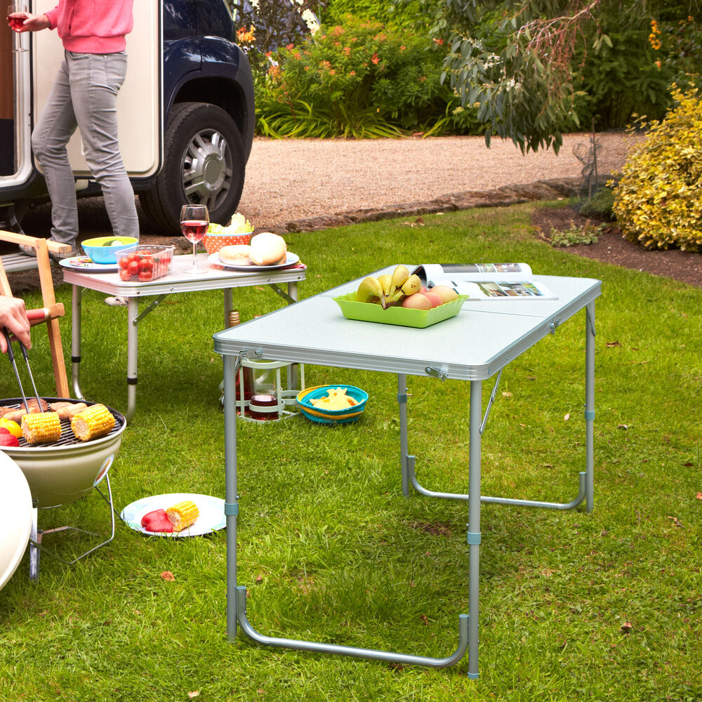 Aluminum Portable Folding Camping Picnic Table Party