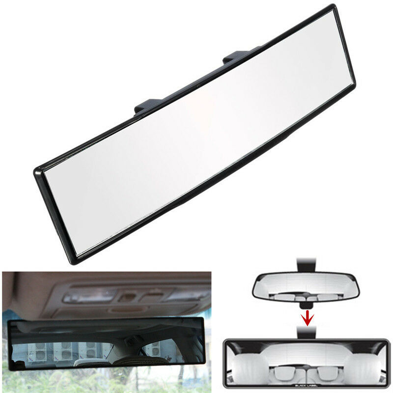 auto car 270mm wide flat interior clip on universal rear view mirror new ebay. Black Bedroom Furniture Sets. Home Design Ideas