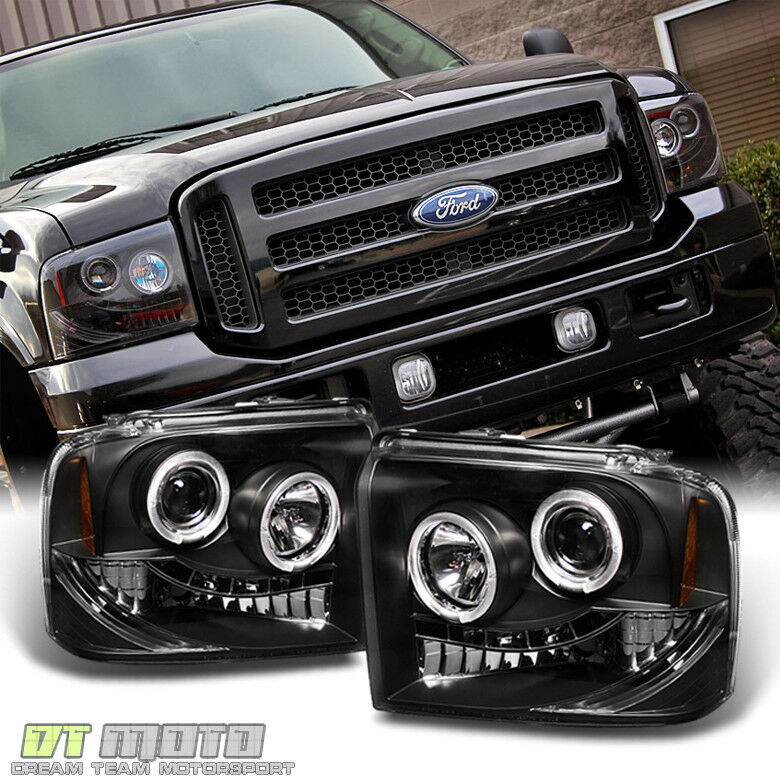 Black 2005 2006 2007 Ford F250 F350 F450 Superduty Led