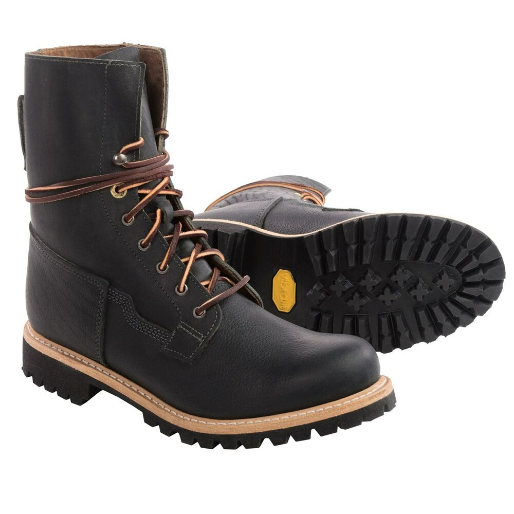 New Mens Timberland Lineman 8 Tall Engineer Black Boots