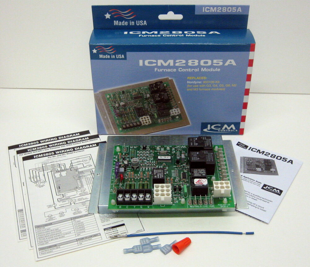 ICM2805A ICM    Furnace    Control Board for Nordyne Intertherm    Miller    903106 624631B   eBay