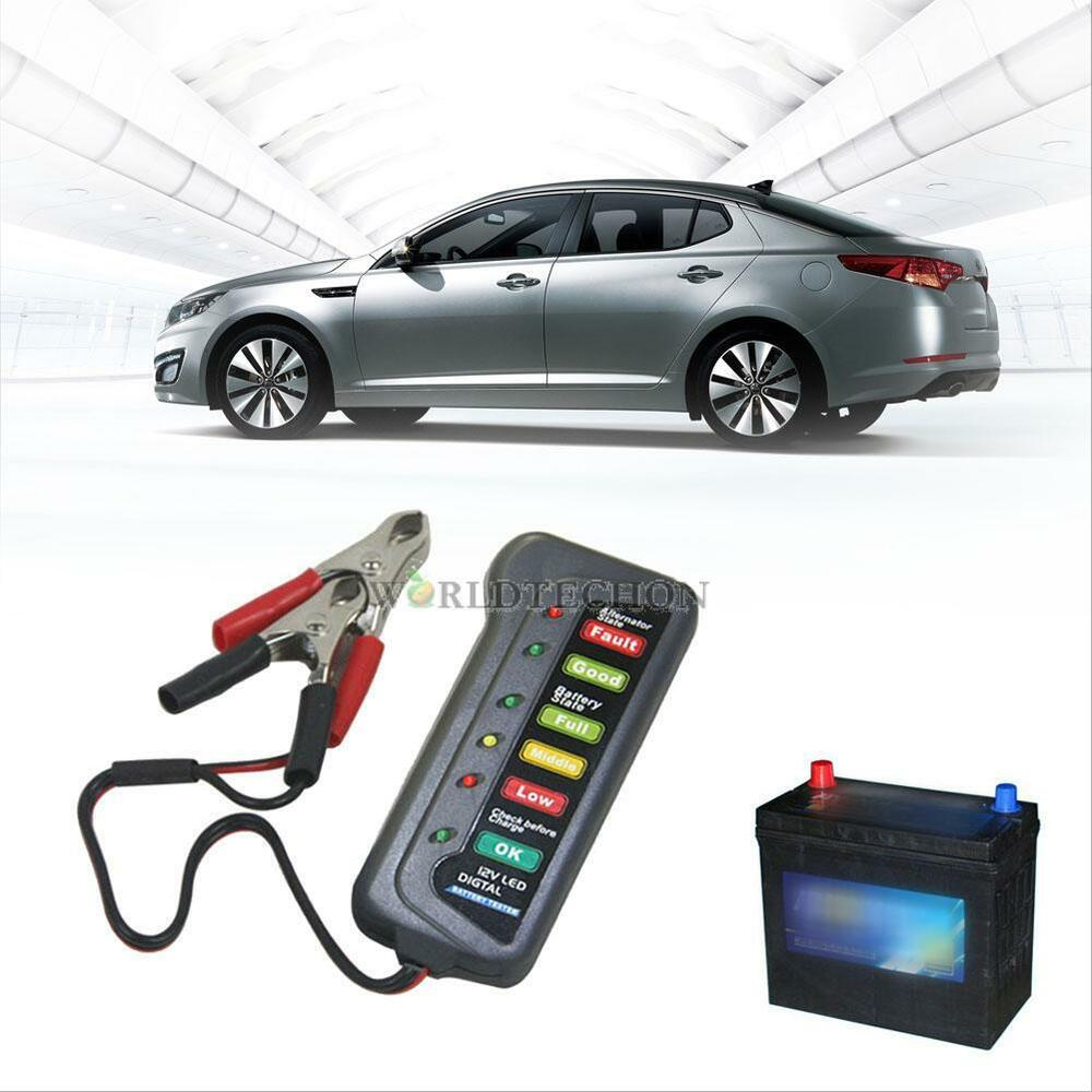 Electronic Tester Showing Failure Lights : Led lights display car digital battery alternator