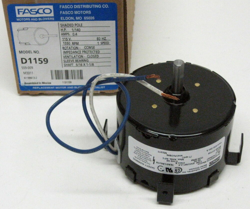 D1159 Fasco Bathroom Fan Vent Motor For 7163 1845 656 293a Pv7896 Ebay
