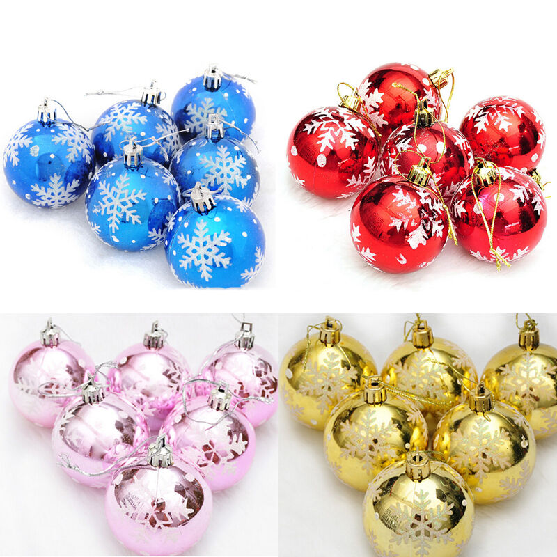 New 6pcs christmas tree decorations balls baubles party for B m xmas decorations