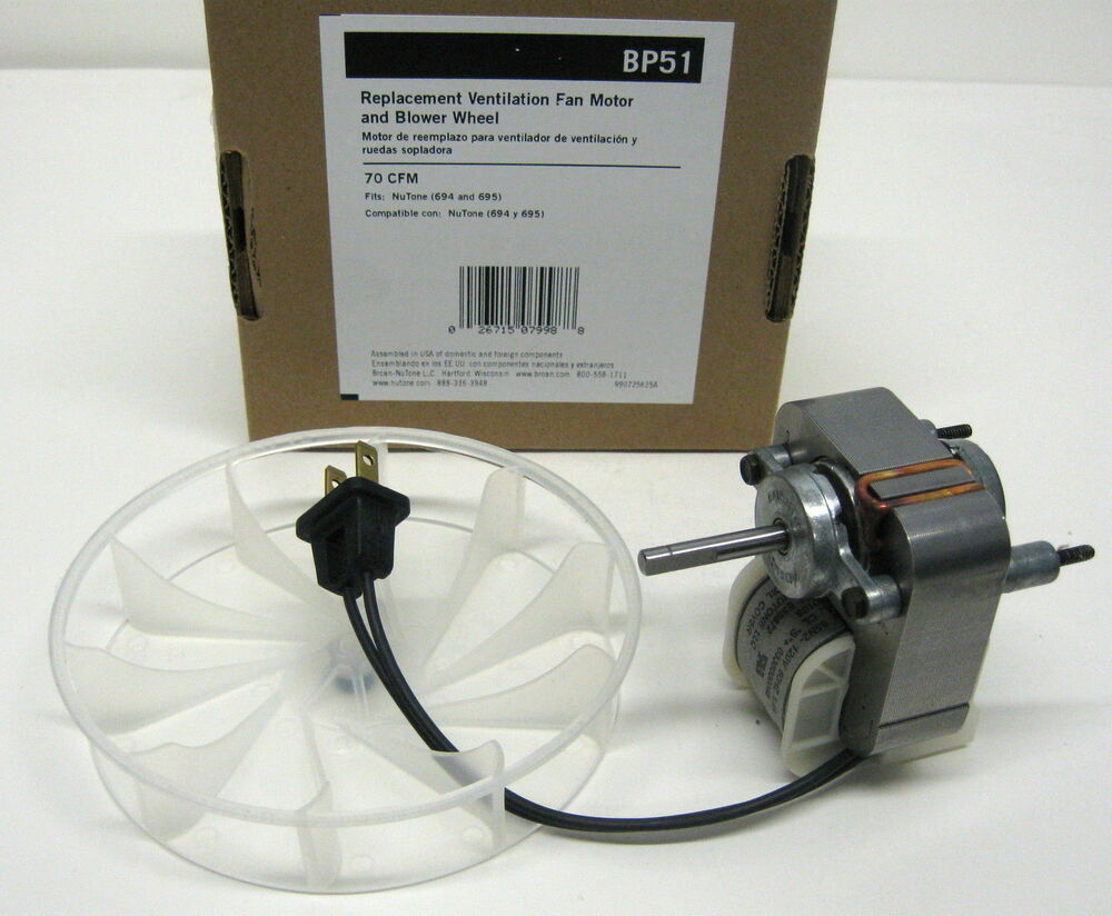 Bp51 Broan Nutone Vent Bath Fan Motor For 70 Cfm Models
