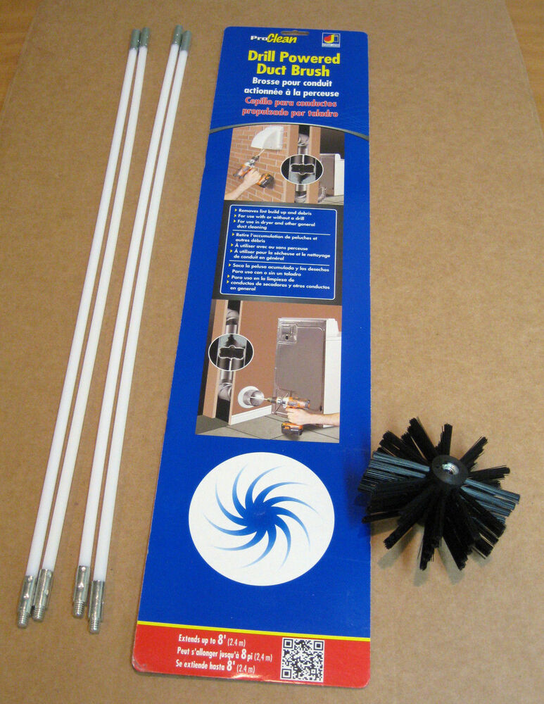 Pcpbzw Dryer Vent Duct Brush Drill Powered Remove Clean