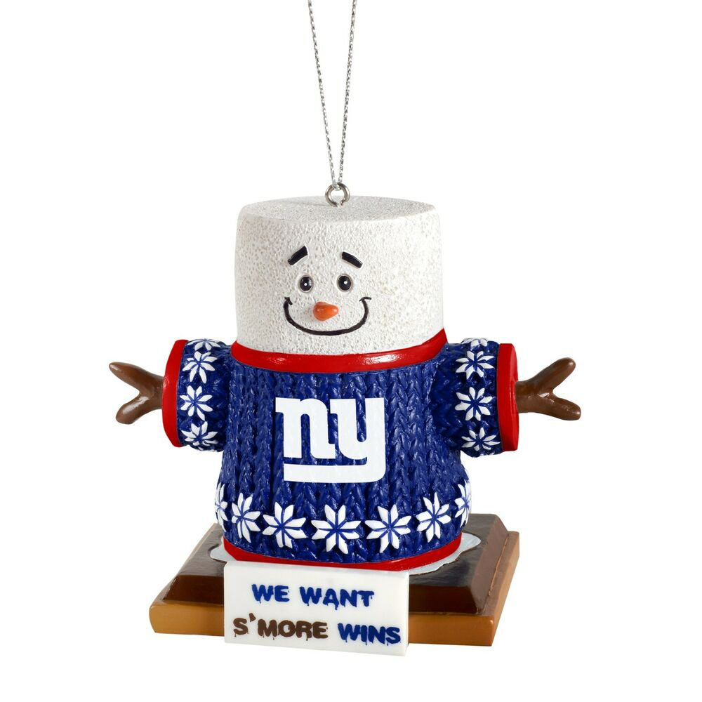 NY New York Giants Smores Christmas Tree Holiday Ornament We want ...