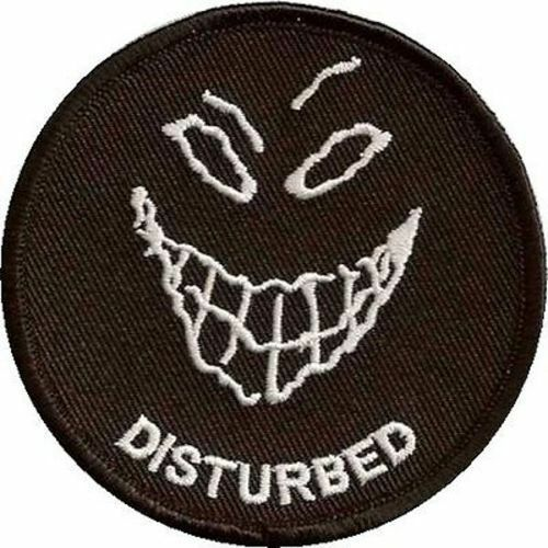 Disturbed embroidered motorcycle mc club biker funny