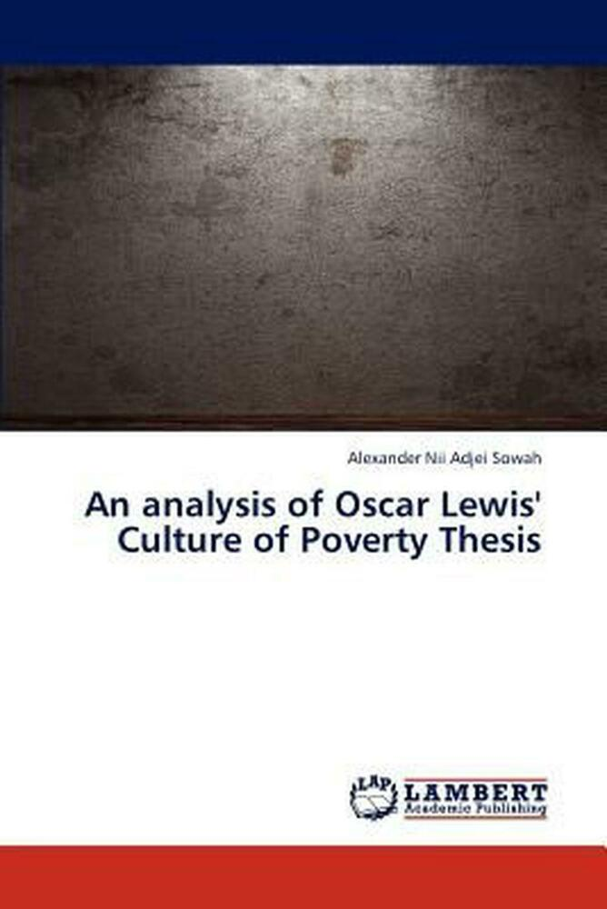 what is the culture of poverty thesis
