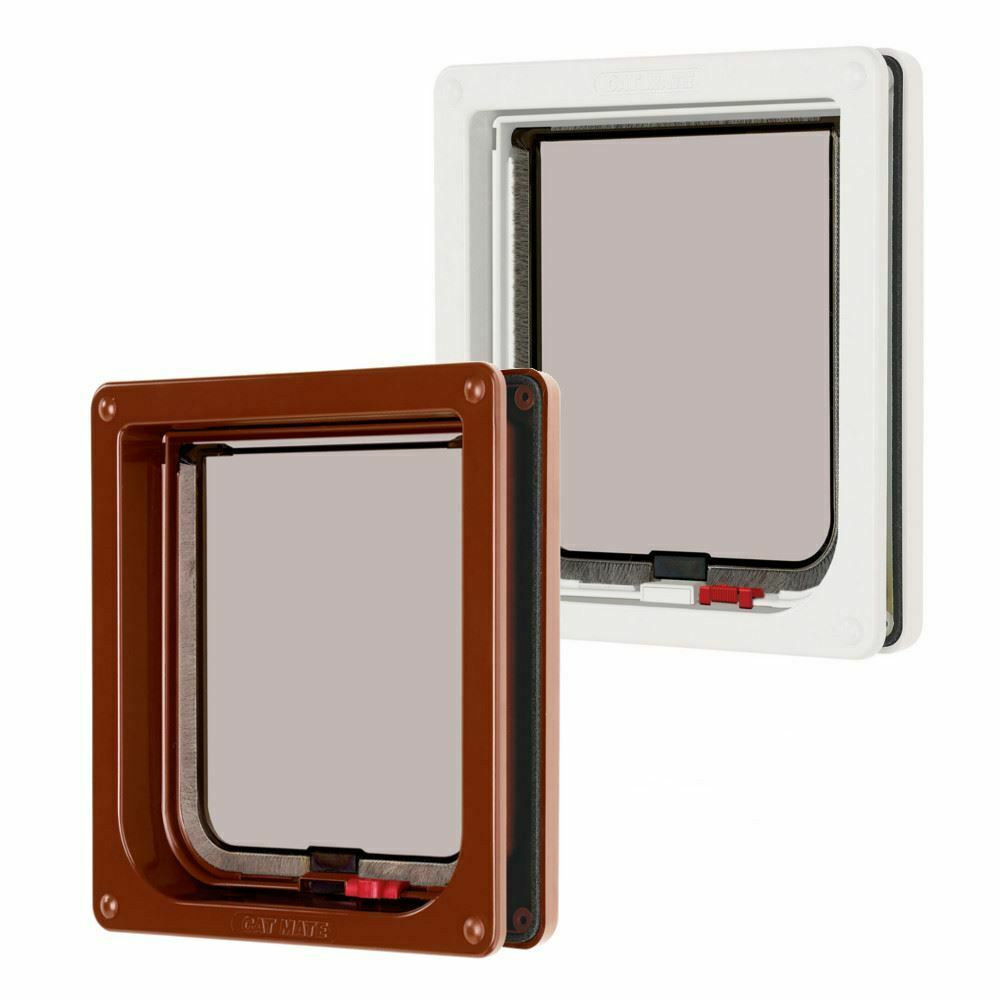 Lockable Cat Flap 2 Way Locking Pet Mate Small Entry Exit