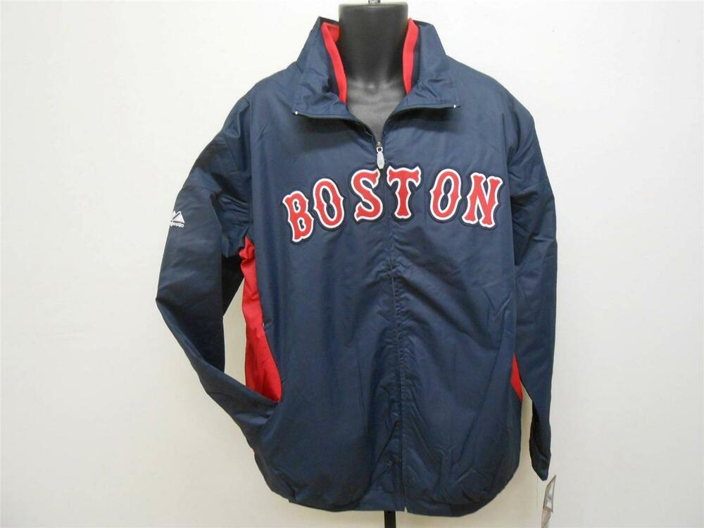 NEW BOSTON RED SOX Mens 3XL-4XL-5XL-6XL Majestic Therma Base Dugout Jacket | EBay