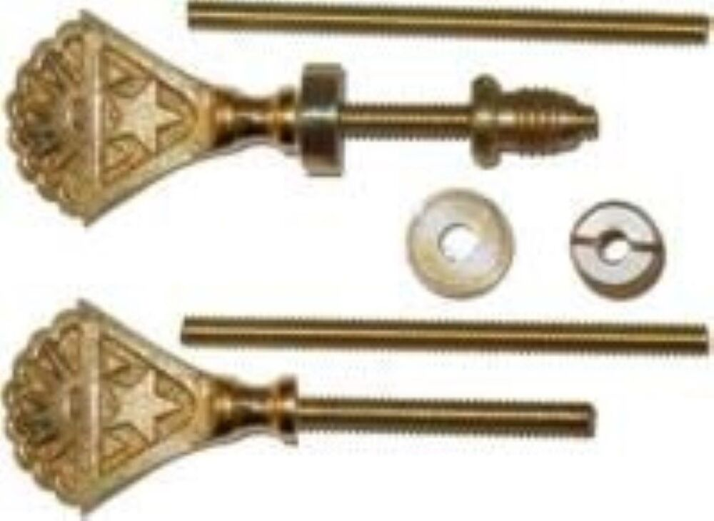 Star Cheval Mirror Mount Set Brass Mounting Clips Ebay