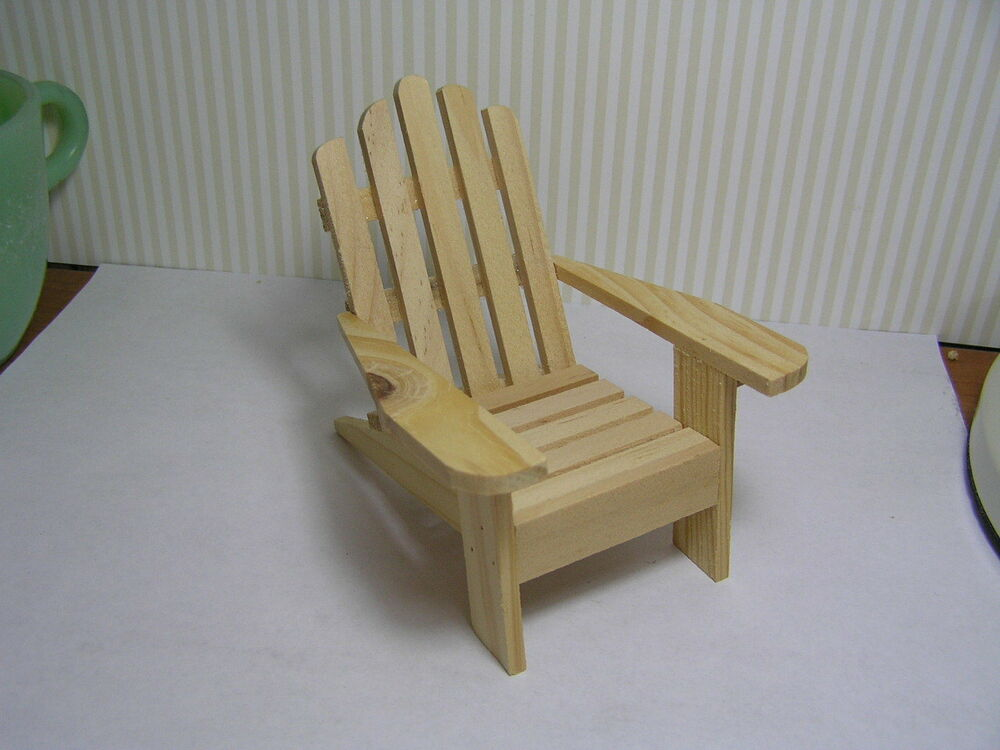 Miniature Dollhouse Unfinished Adirondack Chair Ebay