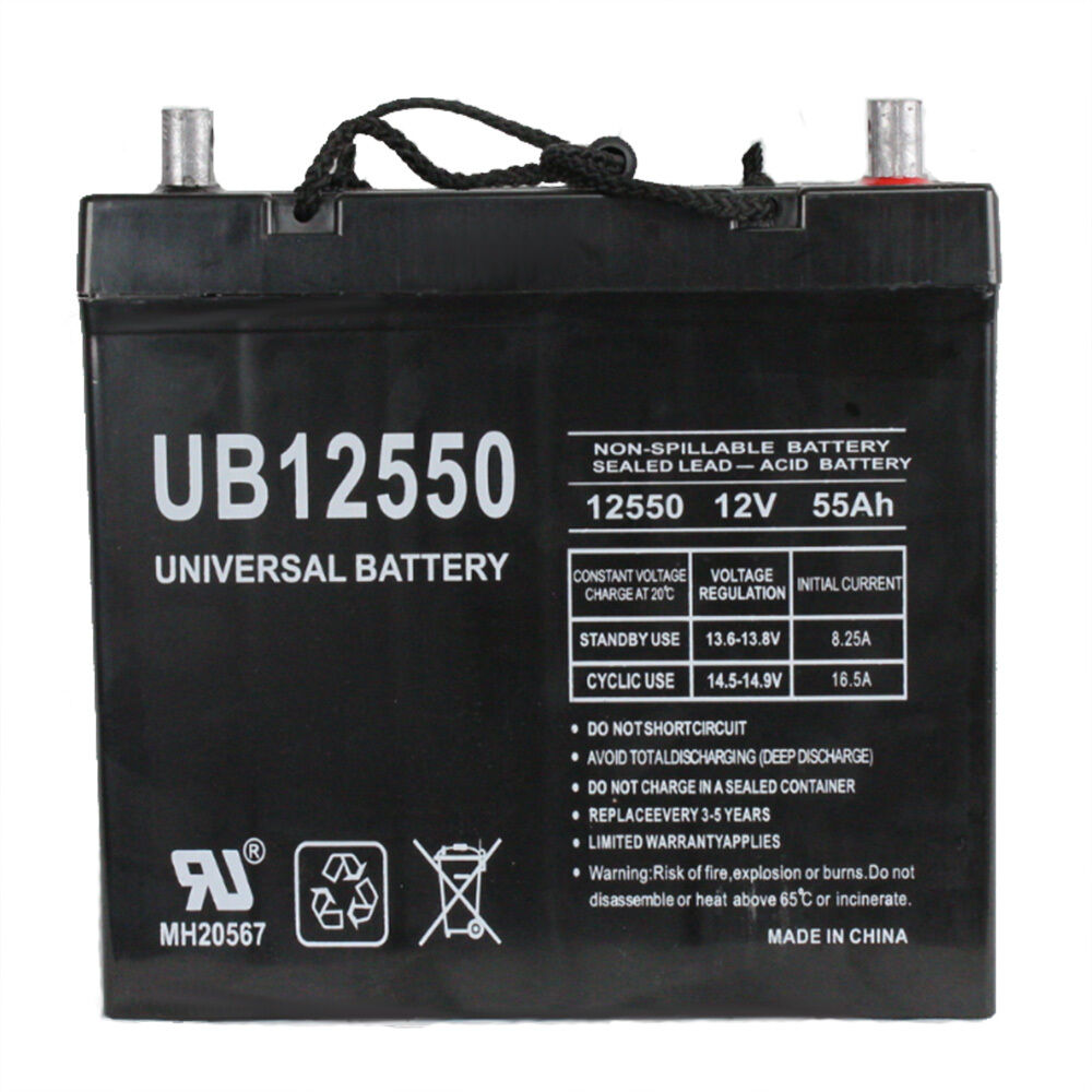 upg 12v 55ah replacement battery for pride mobility. Black Bedroom Furniture Sets. Home Design Ideas
