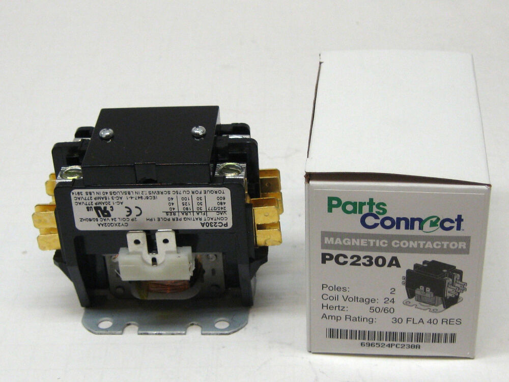Pc230a Contactor Double Two Pole 30 Amps 24 Volts For Air