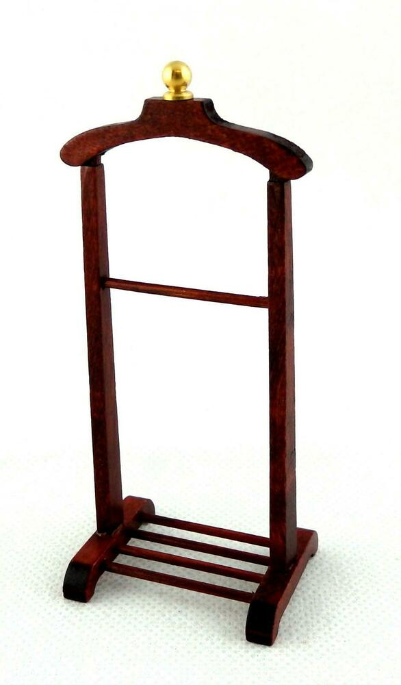 dolls house miniature bedroom furniture victorian gents valet clothes stand ebay