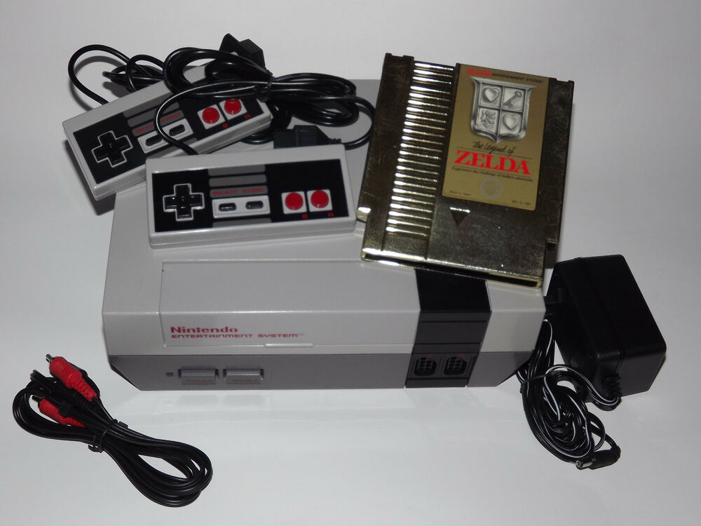 nintendo nes system console with guarantee new 72 pin the legend of zelda 45496610050 ebay. Black Bedroom Furniture Sets. Home Design Ideas
