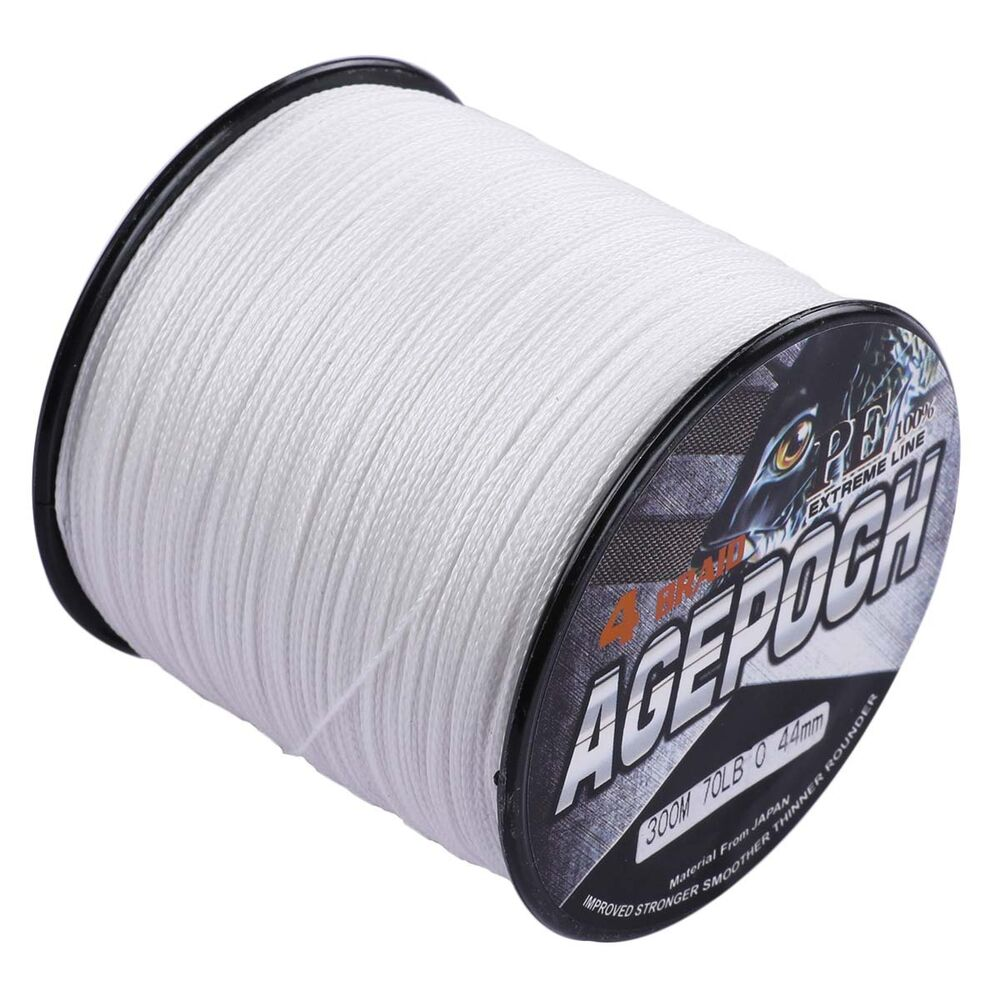 Agepoch 100m 2000m 6 300lb test white dyneema braided for Fishing line test