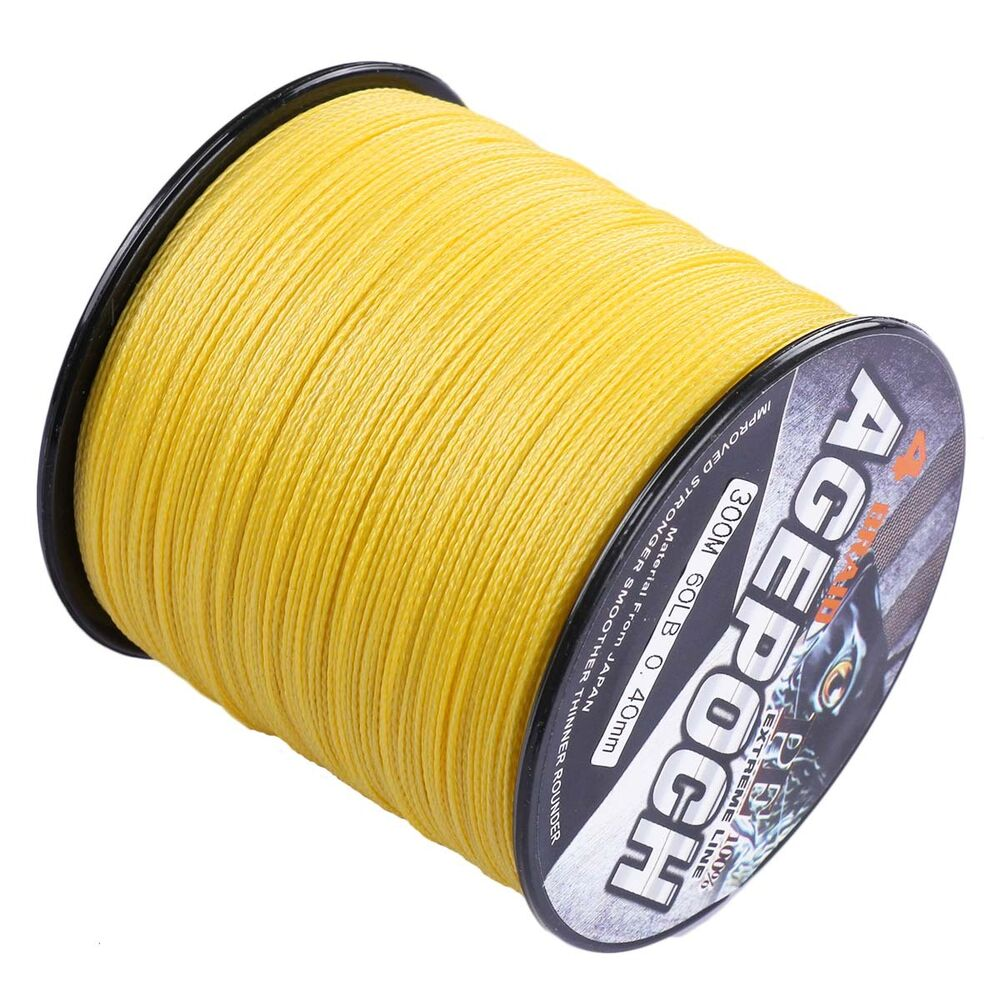 agepoch 100m 2000m 6 300lb test yellow dyneema braided