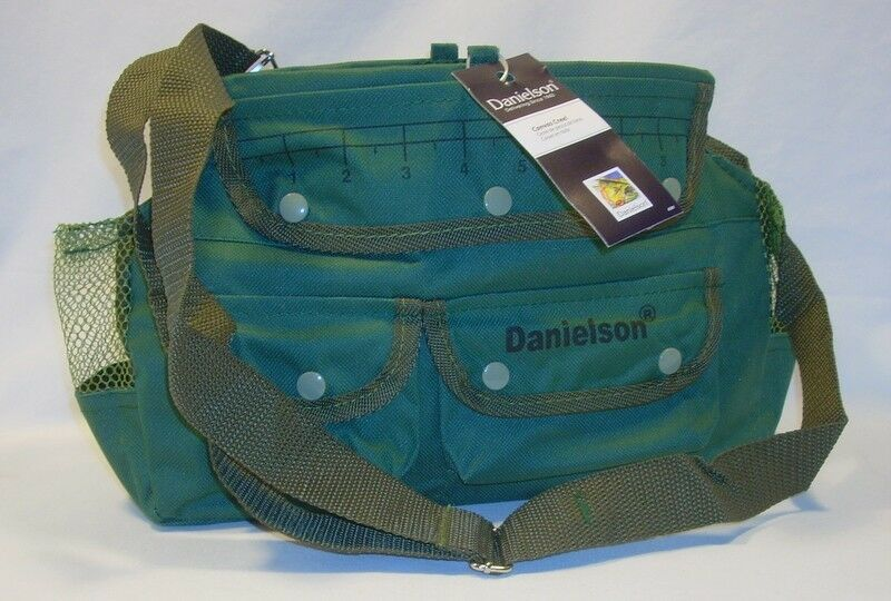 danielson green fishing canvas fishing creel bag w