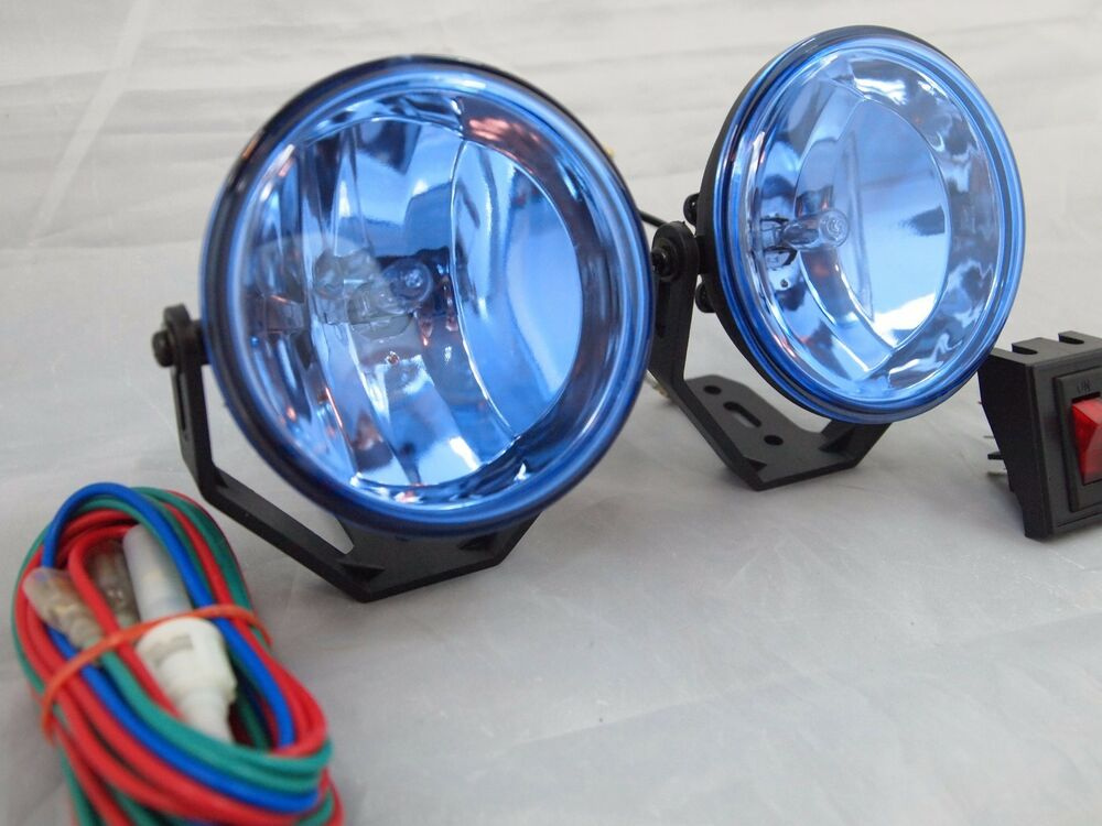 Universal 3 Quot 12v H3 55w Round Fog Lights Driving Lamps