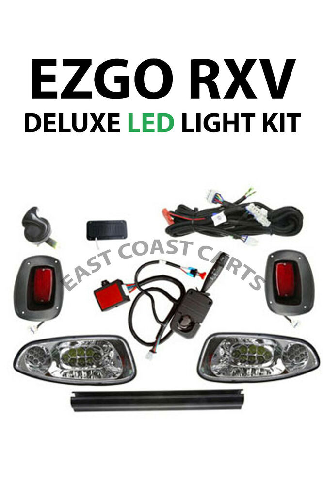 Ezgo rxv golf cart complete full led deluxe light kit horn turn ezgo rxv golf cart complete full led deluxe light kit horn turn brakes ebay sciox Images
