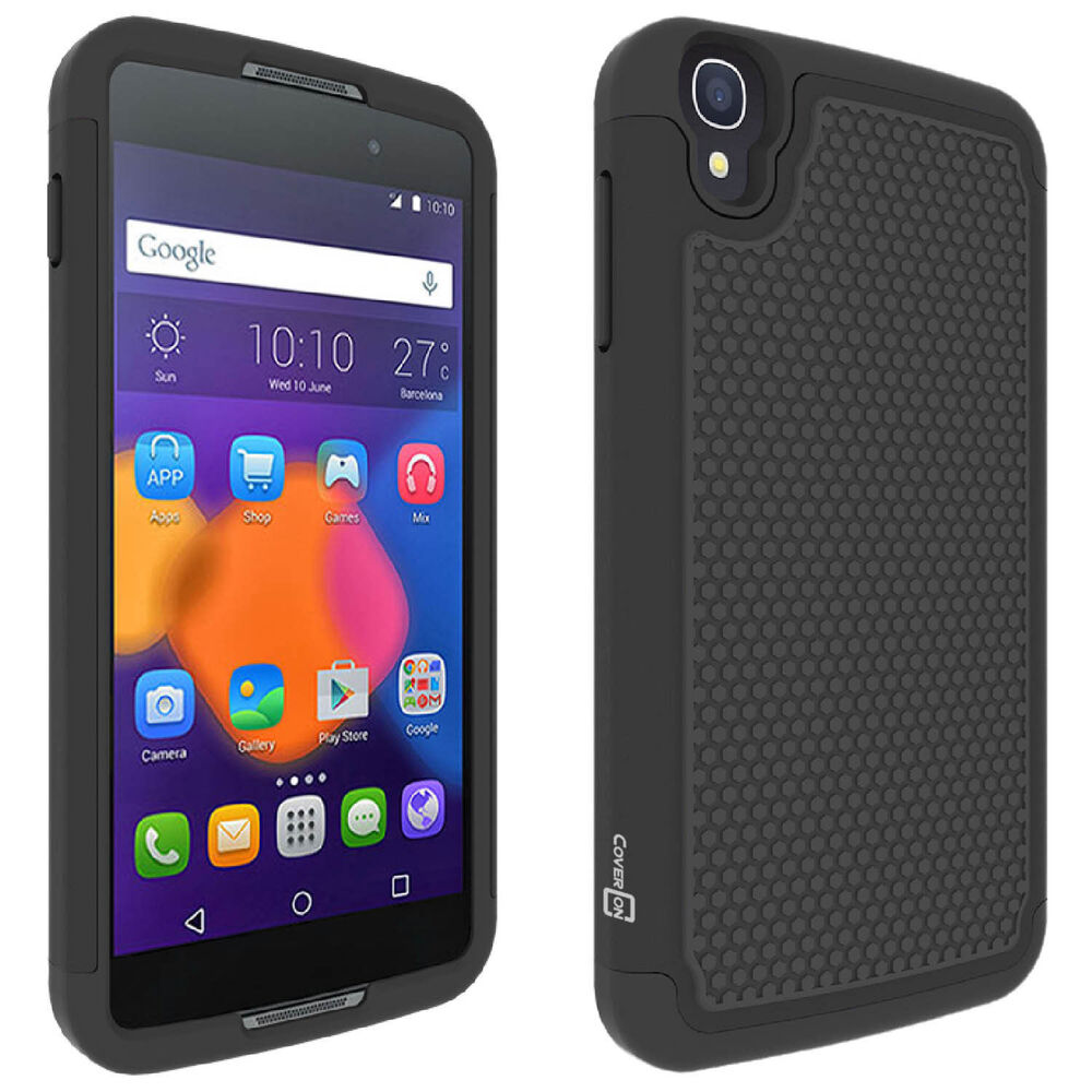 For alcatel one touch idol quot black case protective