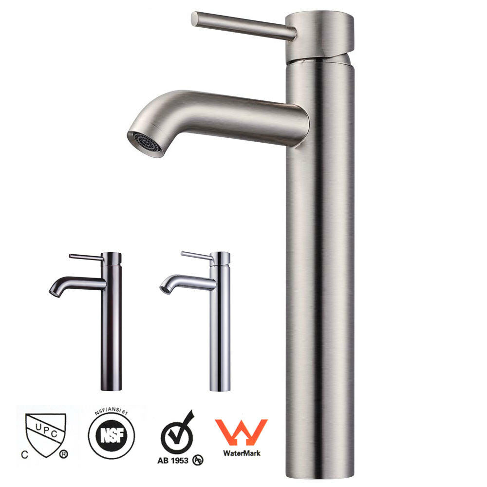 12 Bathroom Vessel Sink Faucet Chrome Brushed Nickel Oil Rubbed Bronze One Hole Ebay