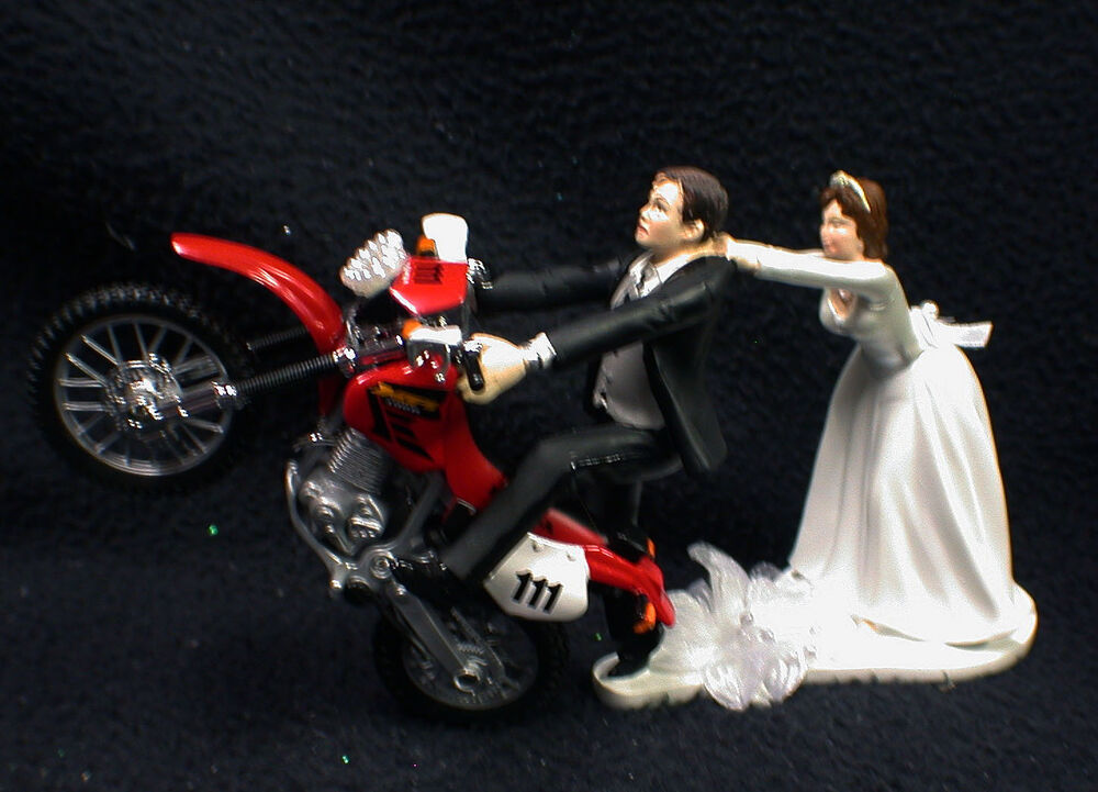 Suzuki Motorcycle Wedding Cake Toppers