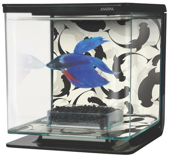 Marina betta aquarium kit fish tank betta bowl 1 2 gallon for Betta fish tanks petsmart