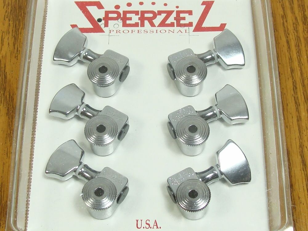 new usa sperzel locking tuners 3x3 chrome 12 1 guitar for gibson les paul sg ebay. Black Bedroom Furniture Sets. Home Design Ideas