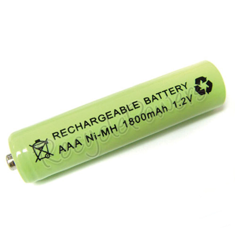 aaa lr3 r03 1800mah ni mh rechargeable battery green ebay. Black Bedroom Furniture Sets. Home Design Ideas