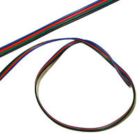 5m meter RGB LED cord 4pin Extension cable flexible wire for SMD 3528 5050 Strip