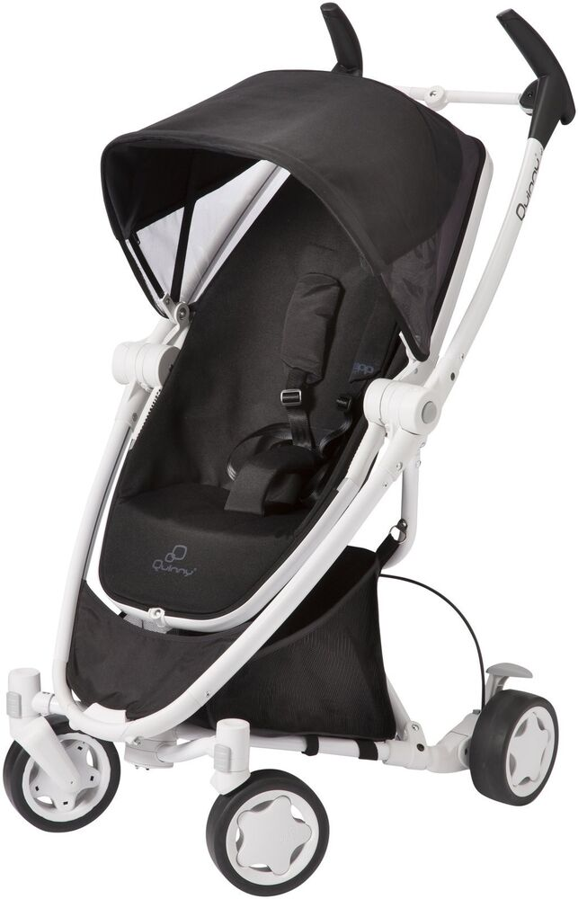 quinny zapp xtra folding seat stroller in black irony with white frame new 884392574246 ebay. Black Bedroom Furniture Sets. Home Design Ideas