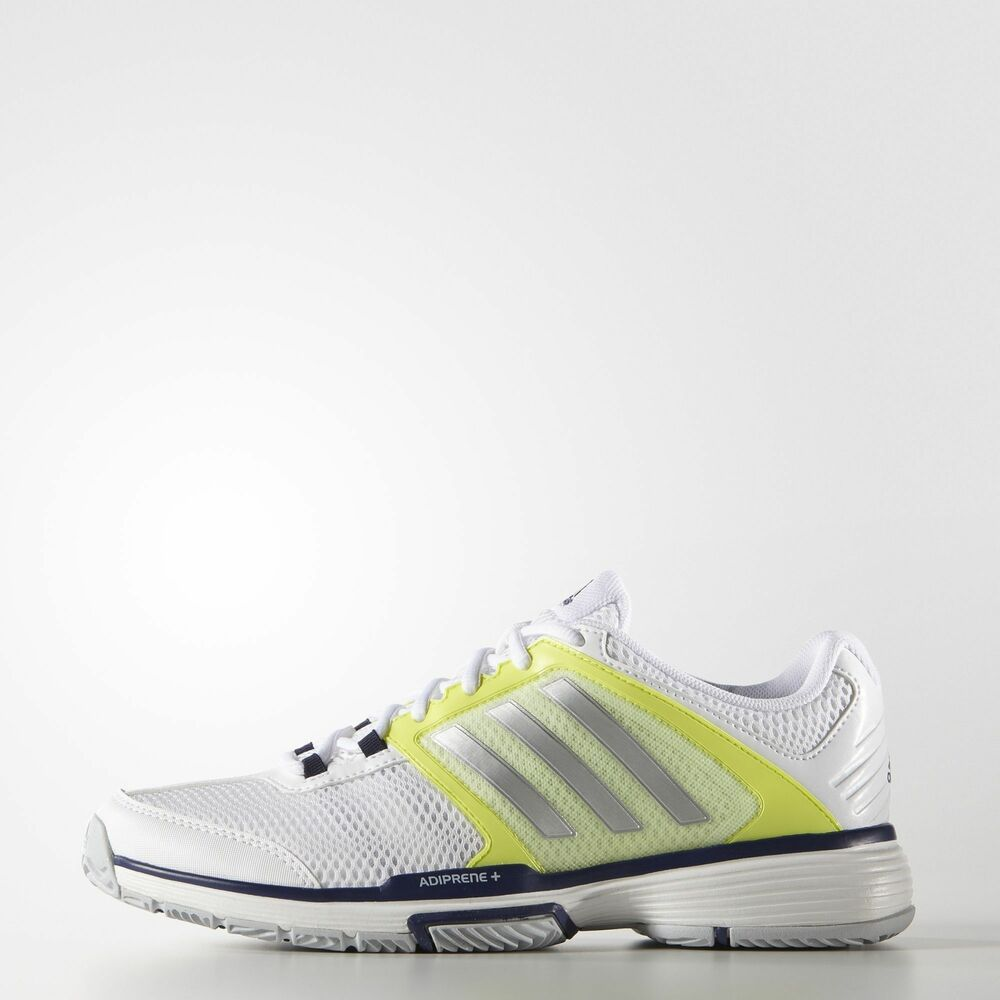 official photos cfeb8 acff7 Details about Adidas Barricade Team 4 Womens tennis shoes White Yellow -  Auth Dealer - Reg  90