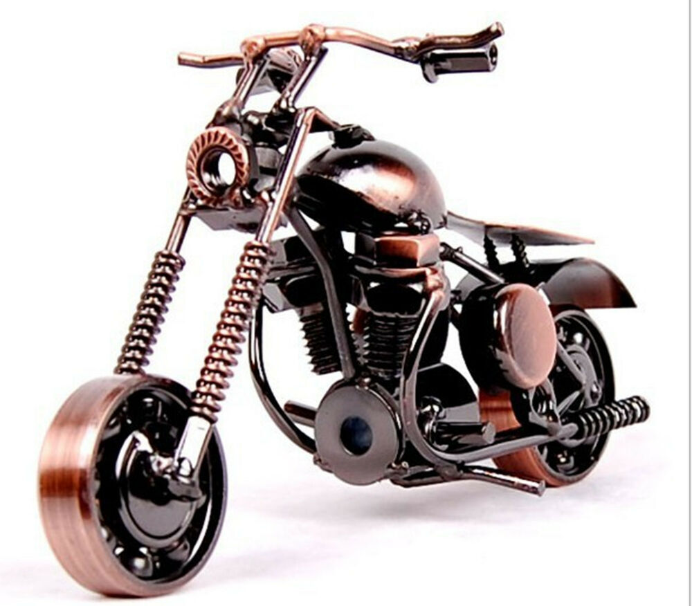 (I) Nostalgic HandMade Craft Metal Alloy Decor Harley