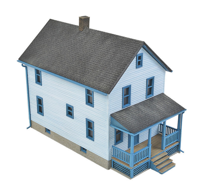 Nib ho walthers 933 3786 2 story frame house kit ebay for Two story kit homes
