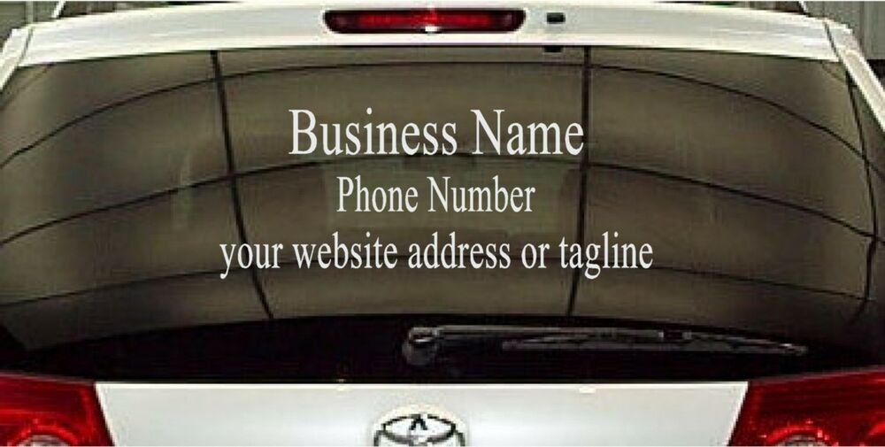 Window Business Sign Vinyl Decal Sticker Sign Lettering